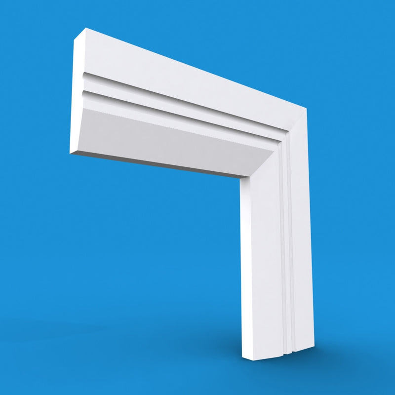 Chamfered Square C Grooved 2 MDF Architrave