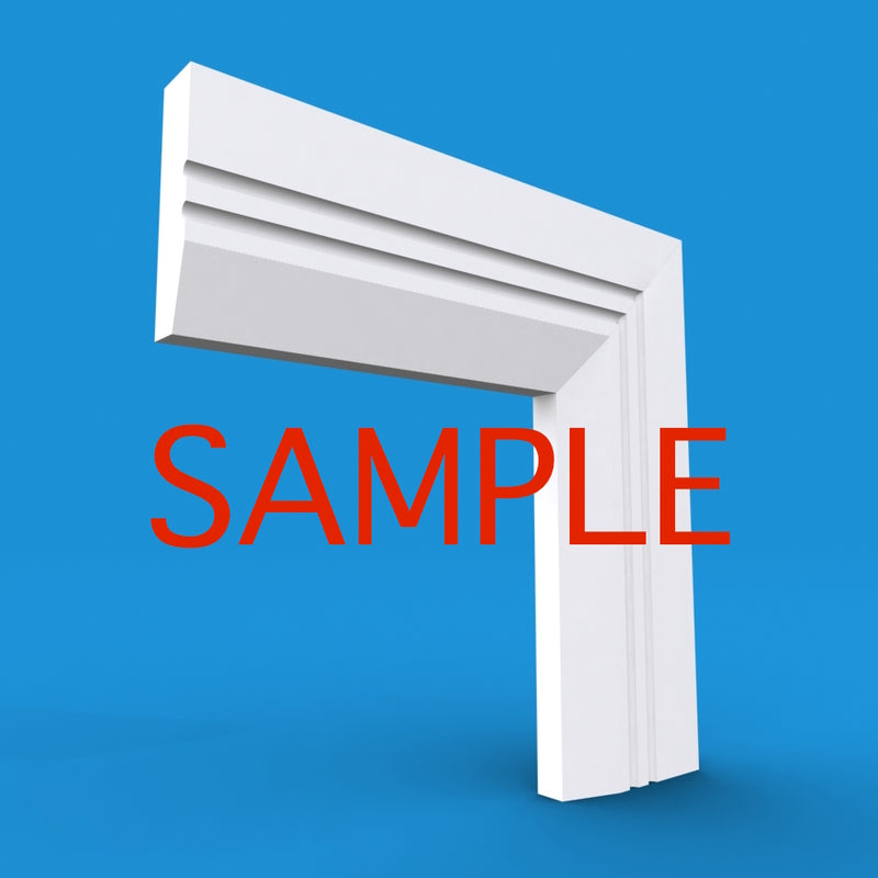 Chamfered Square C Grooved 2 MDF Architrave Sample