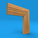 Chamfered Square C Grooved 2 Oak Architrave