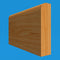Square Edge Oak Dado Rail