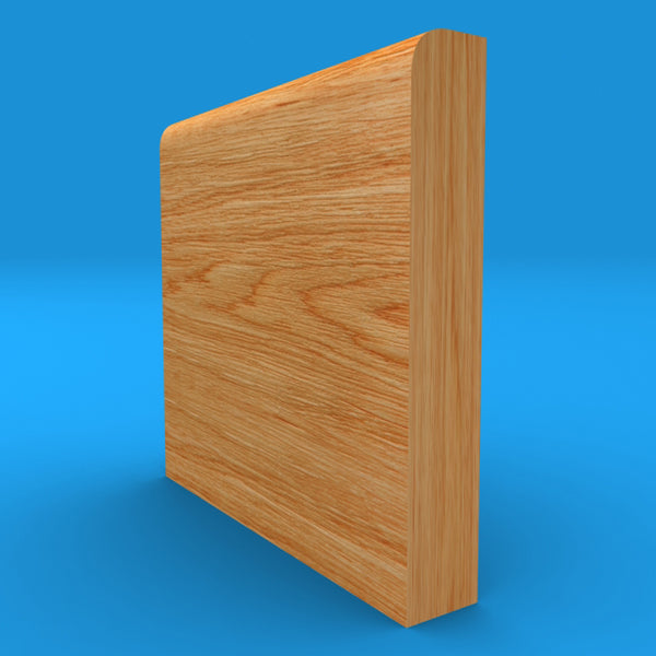 Bullnose Solid Oak Skirting Board