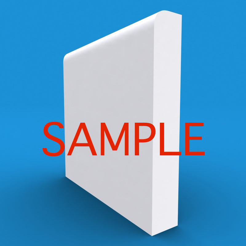 Bullnose MDF Skirting Sample