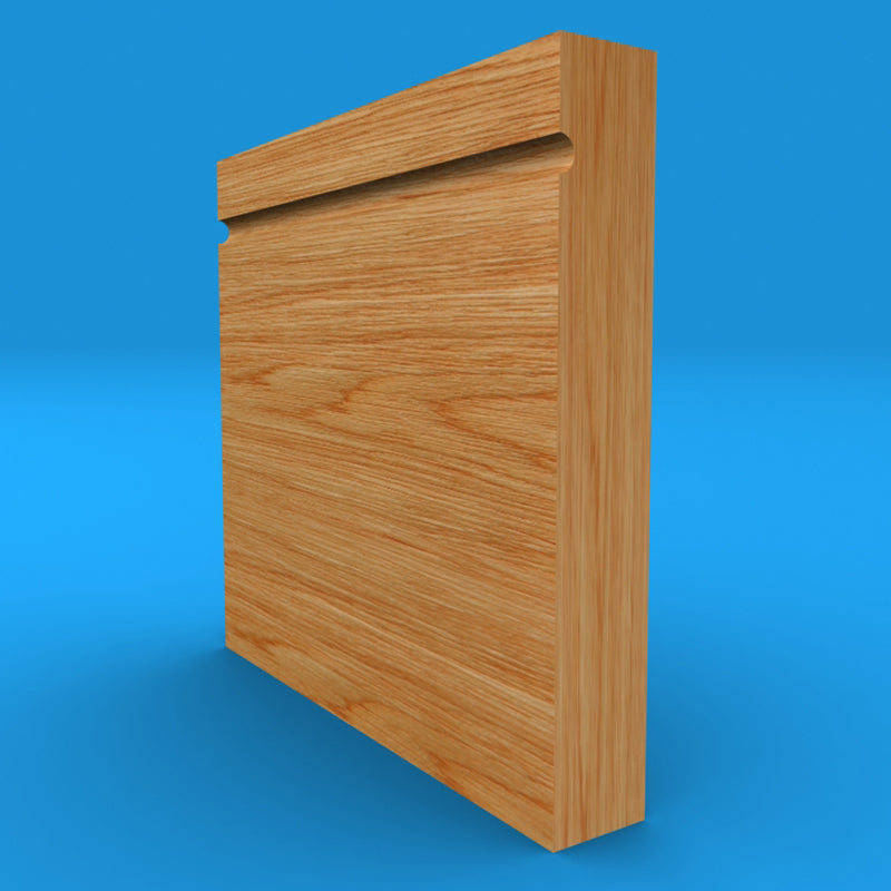 Square Edge C Grooved Solid Oak Skirting Board