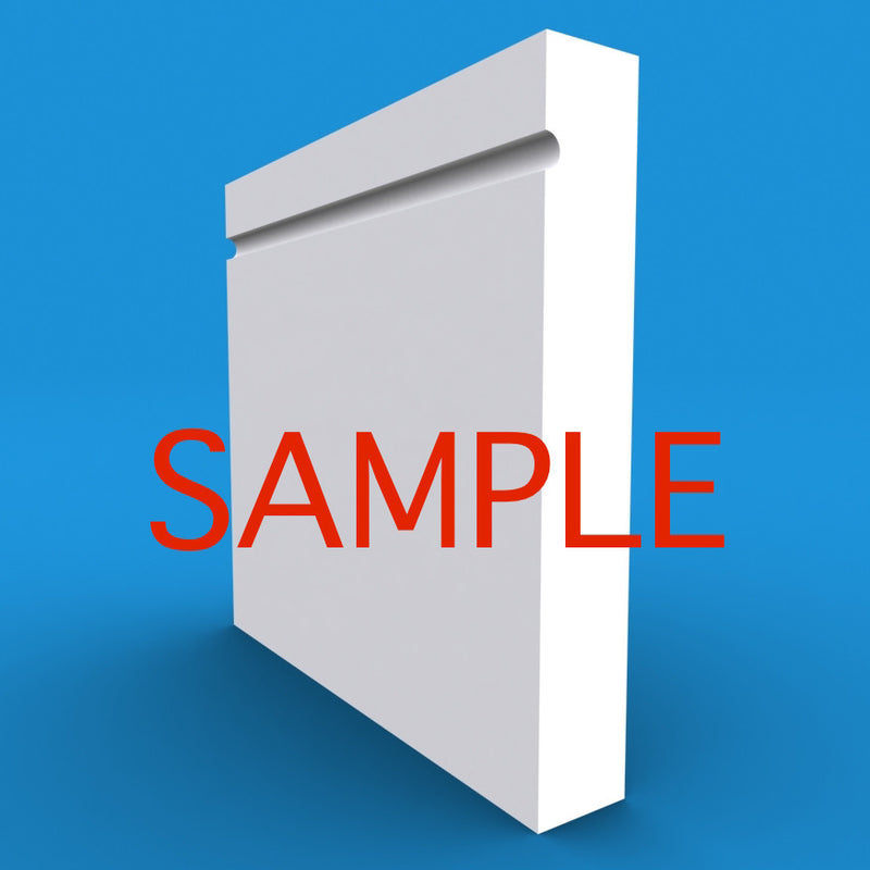 Square Edge C Grooved MDF Skirting Sample