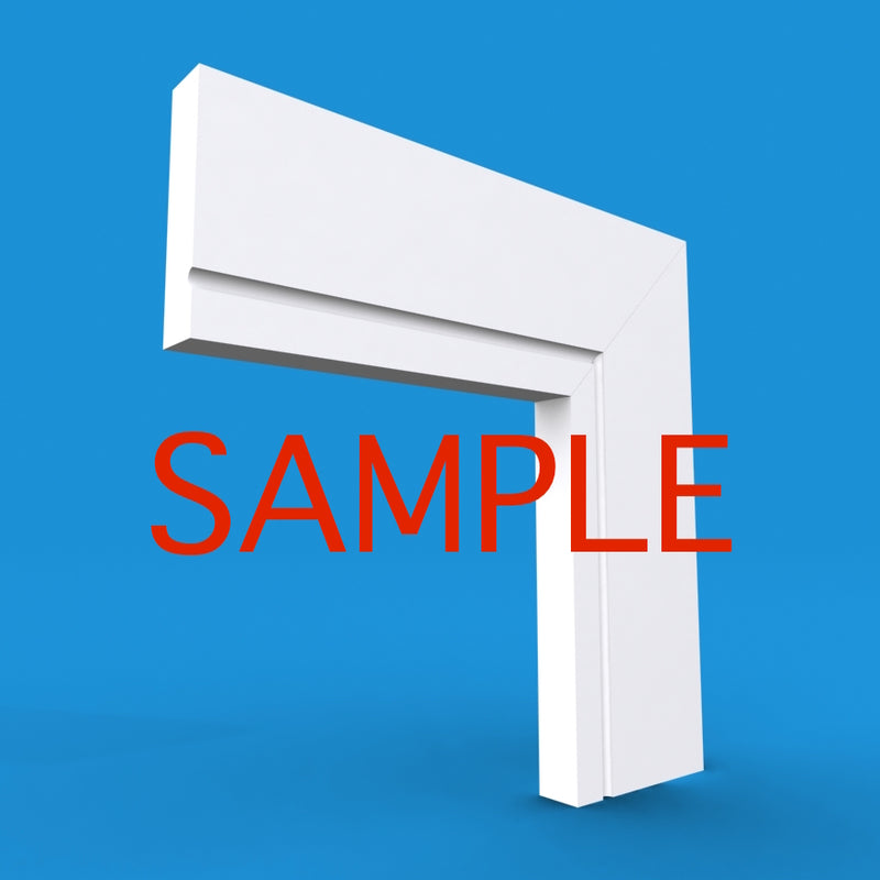 Square Edge C Grooved MDF Architrave Sample