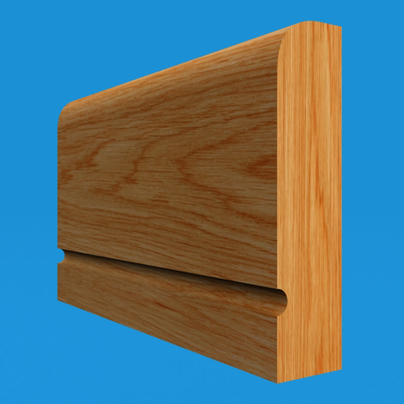 Square Edge C Grooved Oak Dado Rail