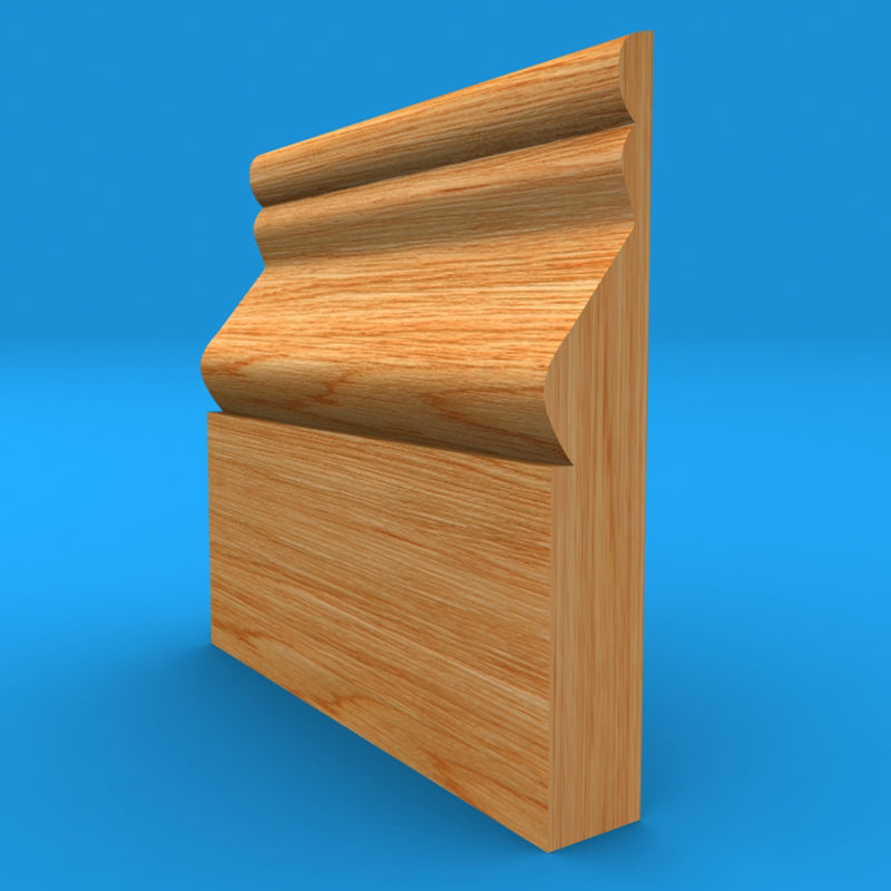 Cesar Solid Oak Skirting Board