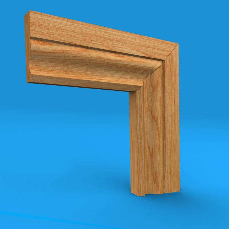 Large Ogee Oak Architrave