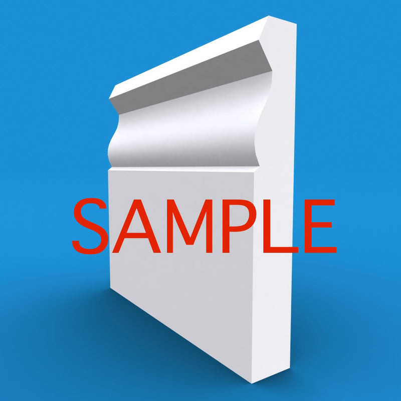 Large Ogee MDF Skirting Sample