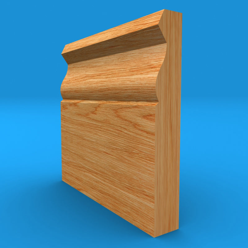 Large Ogee Oak Skirting Board