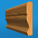 Large Ogee Oak Dado Rail