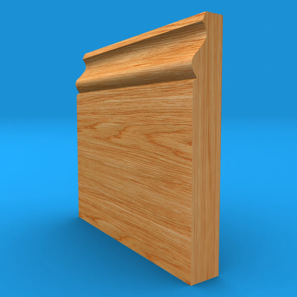 Ovolo Mini Solid Oak Skirting Board