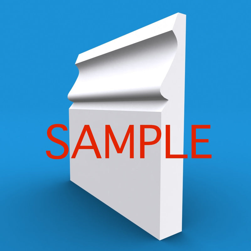 Ogee MDF Skirting Sample