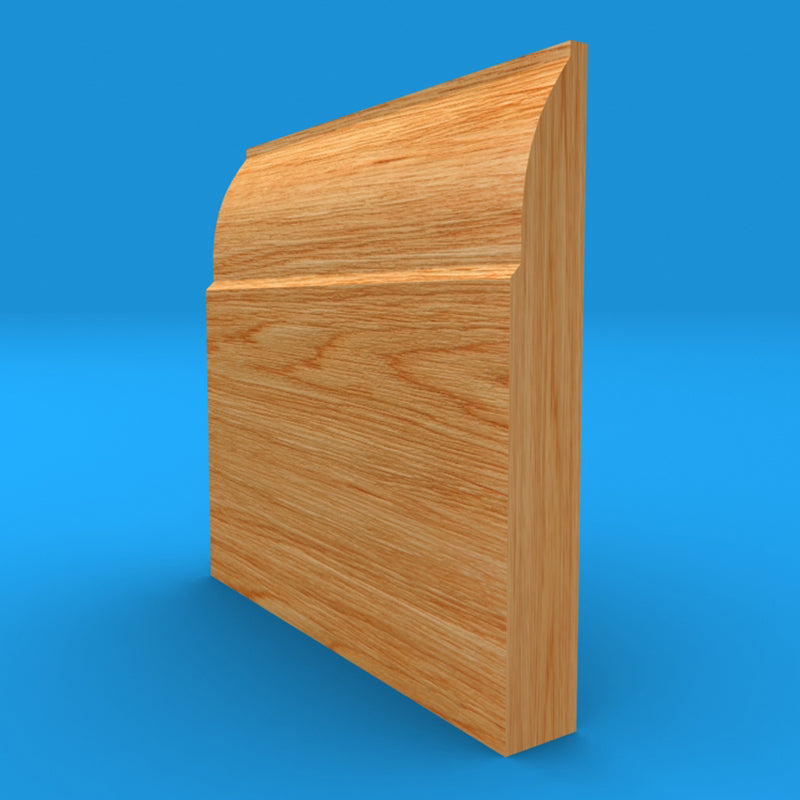 Ovolo Solid Oak Skirting Board