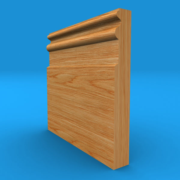Queens Solid Oak Skirting Board