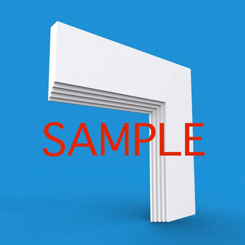 Mini Stepped MDF Architrave Sample