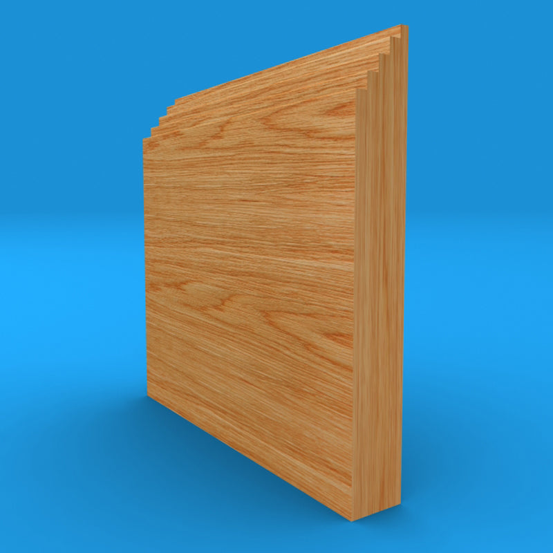 Mini Stepped Solid Oak Skirting Board