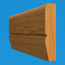 Chamfered Square C Grooved Oak Dado Rail