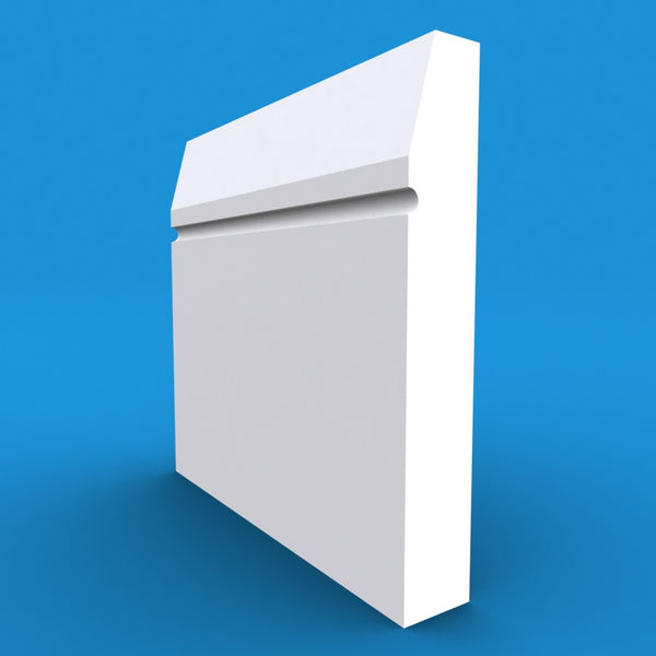Chamfered Square C Grooved MDF Skirting Board