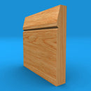 Chamfered Square V Grooved Solid Oak Skirting Board