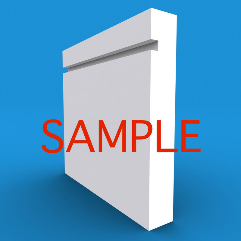 Square Edge Grooved MDF Skirting Sample