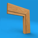 Square Edge Grooved Oak Architrave
