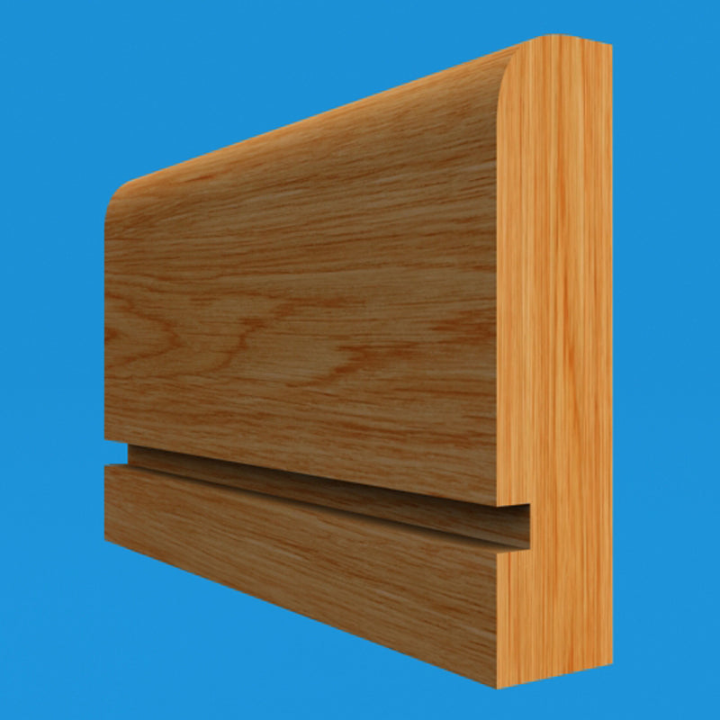 Square Edge Grooved Oak Dado Rail