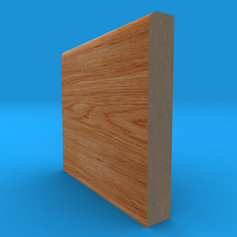 Bullnose Golden Oak Skirting Board