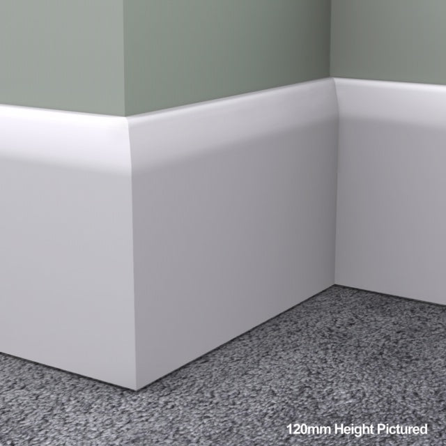 Chamfered Round MDF Skirting Board