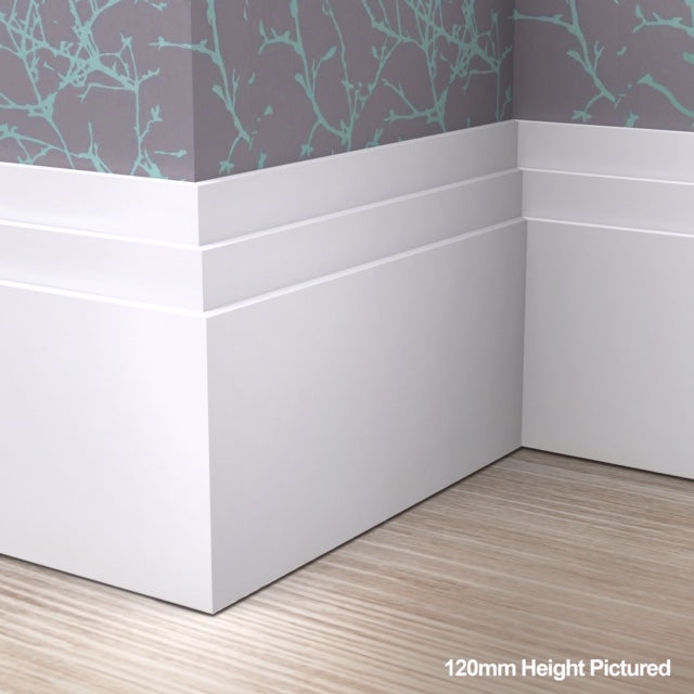 Large Stepped Skirting Board