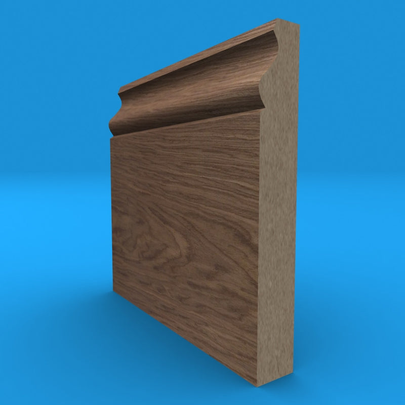 Ogee Black Walnut MDF Skirting Board