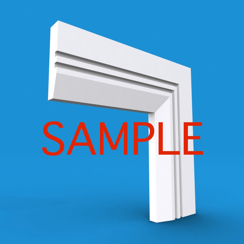 Chamfered Square Grooved 2 MDF Architrave Sample