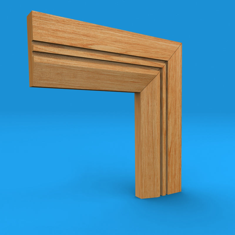 Chamfered Square Grooved 2 Oak Architrave