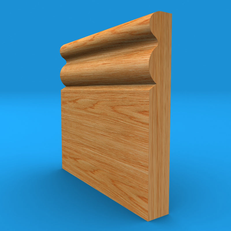 Ogee 3 Oak Skirting Board
