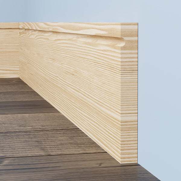 Square C Grooved Pine Skirting Board