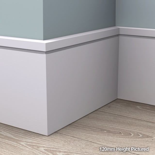 Square Edge Grooved Skirting