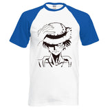 One Piece Monkey D. Luffy Raglan T-Shirt Blue