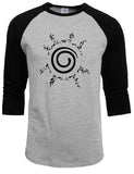 Grey Naruto raglan shirt