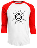 Red Naruto raglan shirt