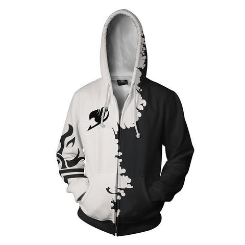 Fairy Tail Monochrome Hoodie - Otakupicks