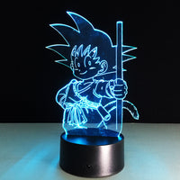 Dragon Ball Z Kid Goku 3D Lamp - Otakupicks