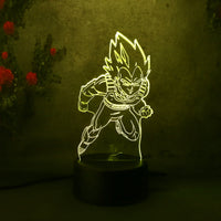 Dragon Ball Z Vegeta 3D Lamp - Otakupicks