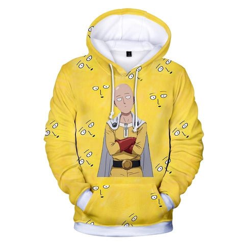 One Punch Man Pokerface Hoodie