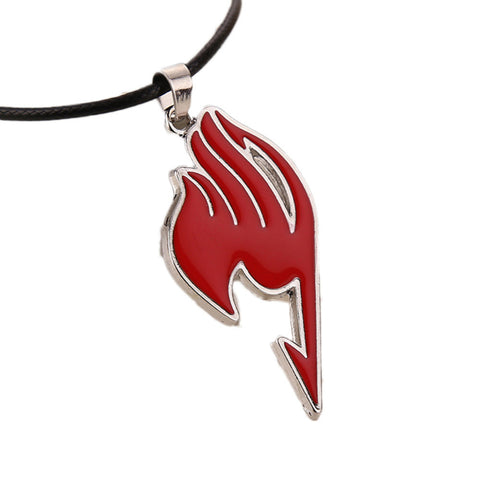 Fairy Tail necklace in red