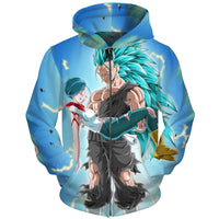 Dragon Ball Super Blue Hero Hoodie - Otakupicks