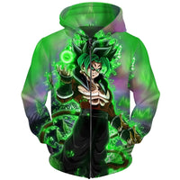 Dragon Ball Super Green SSJ4 Hoodie - Otakupicks