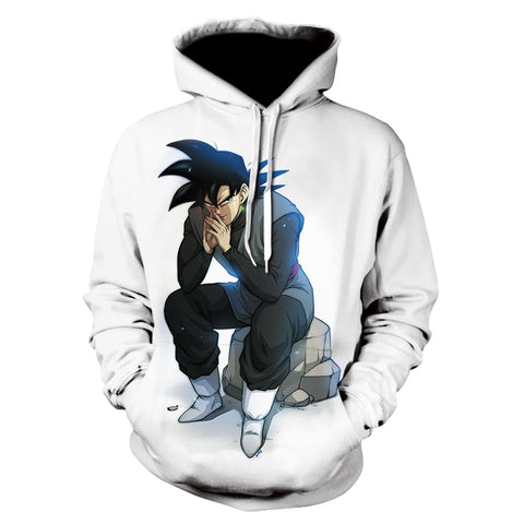 Dragon Ball Z Saiyan Pondering Hoodie - Otakupicks