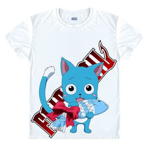Fairy Tail Happy's Fish T-Shirt - Otakupicks