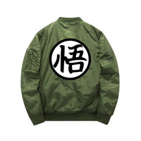Green Dragon Ball Z Bomber Jacket back view