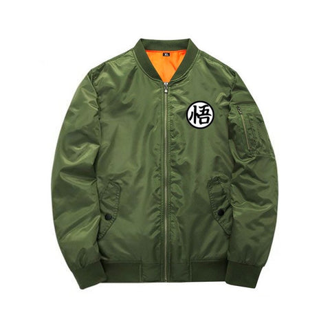 Green Dragon Ball Z Bomber Jacket front